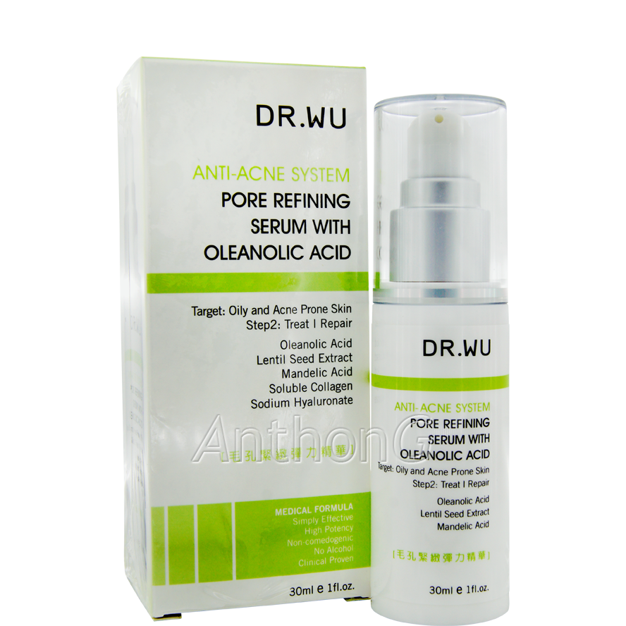 Dr. Wu Anti- Acne System Acnecur Pore Refining Pore Refining Toner glotherapeutics Oil Control Emulsion Facial Moisturizer 2 Ozs