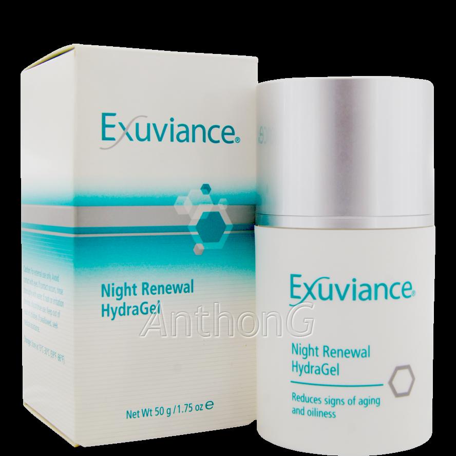 exuviance night renewal hydragel